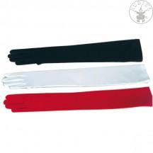 Rukavice hladké dlhé červené