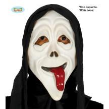 Maska vreskot s vyplazeným jazykom