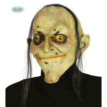 Latexová maska čarodejnice s vlasmi