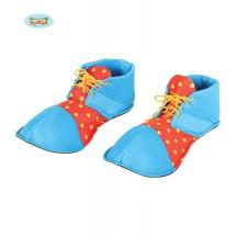 Klaunská topánky červeno-modré