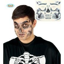 Tetovanie na tvár - smrtka