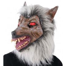 Maska latexová - sivý vlk