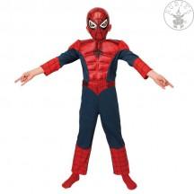 Ultimate Spiderman Deluxe Metalic detský kostým