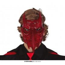 Diabolská maska s rohmi